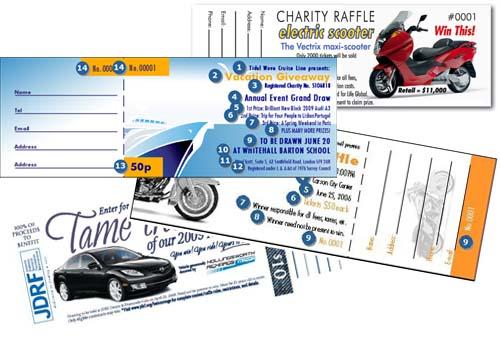 highland printing raffle tickets